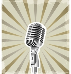 Microphone retro background vector