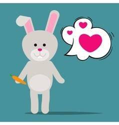 Easter rabbit or funny bunny vector