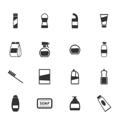 Houshold chemicals icons set vector