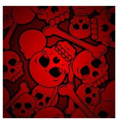 Skull background vector