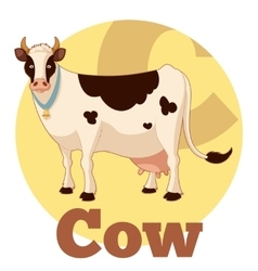 Abc cartoon cow vector
