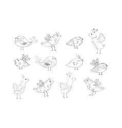 abstract bird silhouette vector image