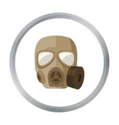 Army gas mask icon in cartoon style isolated on vector image vector image