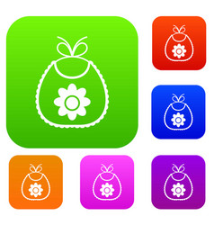 baby bib set collection vector image