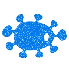 Bacteria grainy texture icon vector