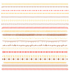 brush tribal set vector image vector image