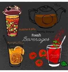 Bubble tea hand drawn vector