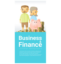 Business and finance concept background vector