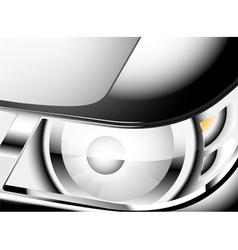 Close up car headlight vector