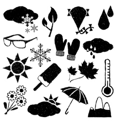 Doodle weather images vector