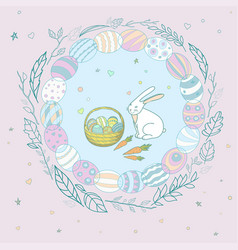 for a holiday of easter with vector image