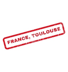 France Toulouse Rubber Stamp vector image vector image