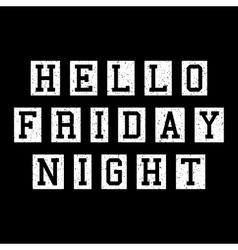 Friday slogan lettering vector