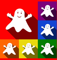 ghost isolated sign set of icons with vector image