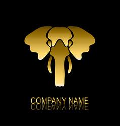 golden elephant symbol vector image vector image