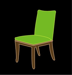 Graphic of a dining chair vector