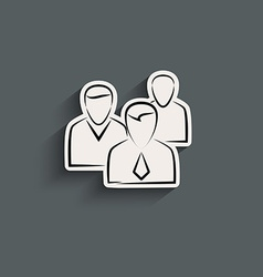 Group of people sign icon vector