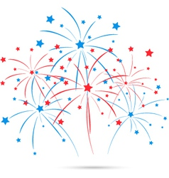 Independence day fireworks vector