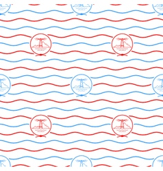 Lighthouse seamless pattern vector