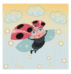 Little ladybird vector image vector image