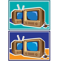 old TV set vector image