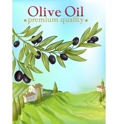 Olive oil premium poster vector