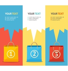 paper bag sale card option banner Flat vector image