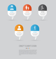 People icons set collection of scientist jogging vector
