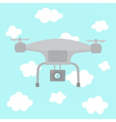 Quadcopter in the sky vector