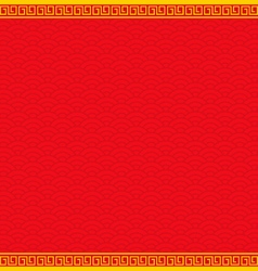 red chinese background with yellow gold border vector image