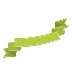 Ribbon banner green neon design icon vector