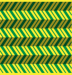 Seamless pattern green yellow zig zag background vector