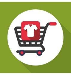 Shopping design sales and retail icon isolated vector
