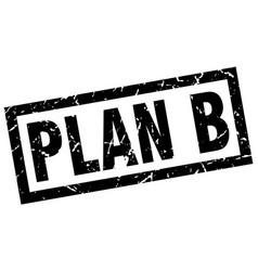 Square grunge black plan b stamp vector
