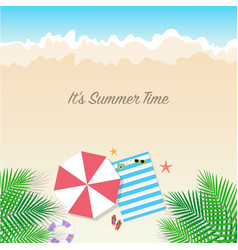 summer time background season vacation weekend vector image vector image