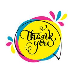 thank you handwritten vector image vector image