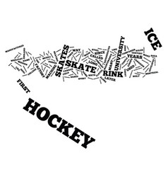 The origin of ice hockey text background word vector