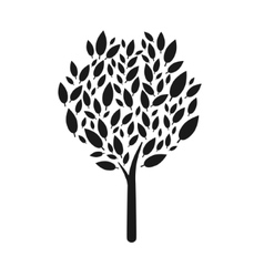 Tree icon on white background isolated vector