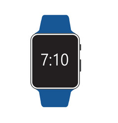Smart watch isolated with icons on white vector