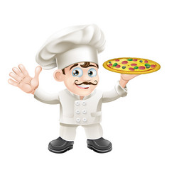 italian pizza chef cartoon vector image
