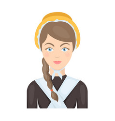 girl with a braid and in a headdressthe dark vector image