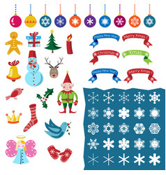 christmas set part one vector image