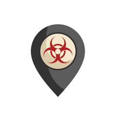 Biohazard zone vector