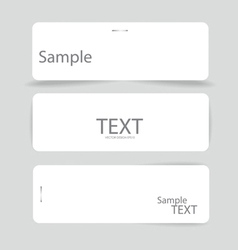 Set of various card notes ready for your message vector