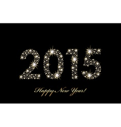 2015 Happy New Year background with sparkles vector image