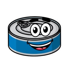 Cartoon happy tin can character vector