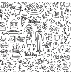 Wedding - seamless background vector