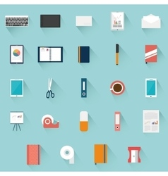 Office supplies objects vector