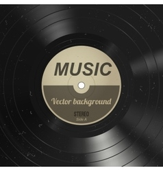 Music vinyl background vector