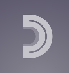 Alphabet letter D transparent logo icon design vector image vector image
